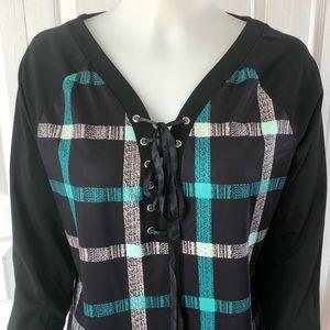 Rosegal Long Sleeve V-Neck Blouse